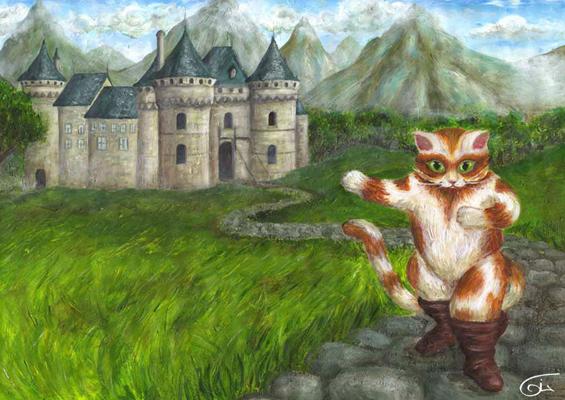 Les chats - Dessin chat botte ...