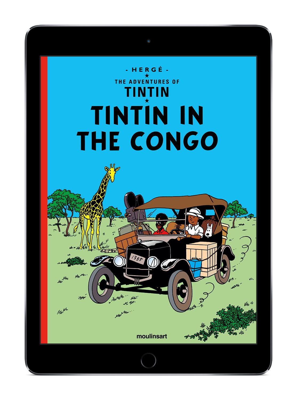 tintin au congo  premier album num u00e9rique en anglais